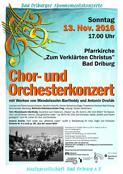 Choral and orchestral concert