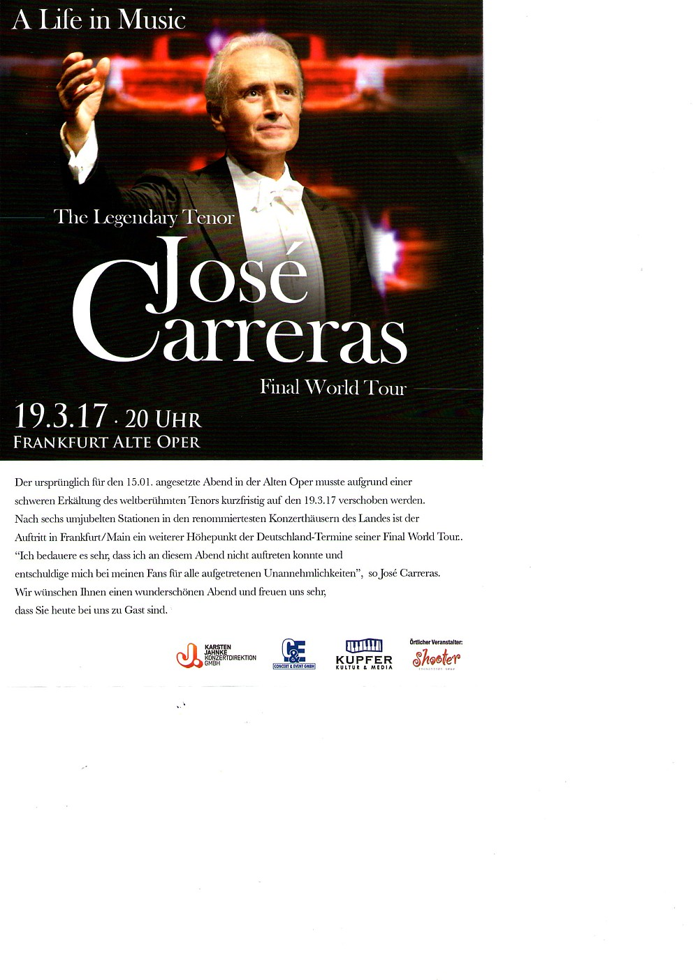 José Carreras - Final World Tour
